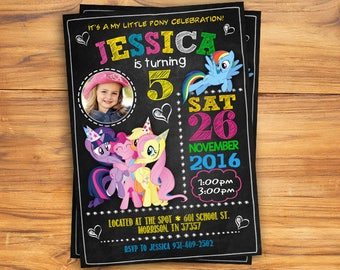 My Little Pony Invitation, My Little Pony Bithday Invitation, My Little Pony Birthday, My Little Pony Party, My Little Pony Invite, DIGITAL