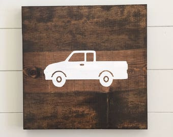 Truck Wall Decor - Truck Wood Sign - Things That Go Nursery Decor - Vehicle Nursery Decor - Boy Room Decor - Boy Nursery - Gift For Dad