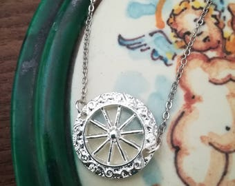 Cart Wheel Necklace