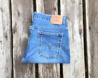 "Levi's 515 33"" Medium Wash High Waist Vintage Jeans"