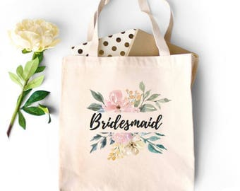 Bridal Party Tote Bag, Bridesmaid Tote, Engagement Gift, Maid of Honor Tote, Flower Girl Tote, matron of Honor Tote, Bridal Party Proposal