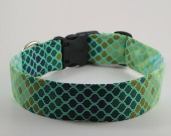Tints and Shades of Greens Dog Collar