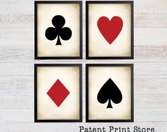 Poker Wall Art. Poker Art. Poker Print. Poker Player Gift. Gift for Him. Man Cave Decor. Man Cave Art. Man Cave Print. Playing Cards. 292
