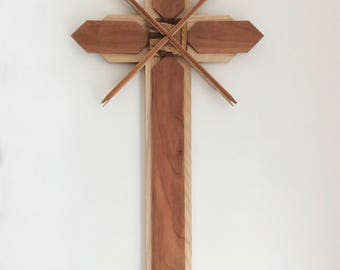 Wooden Cross, Unique, Hand Crafted, One Of A Kind