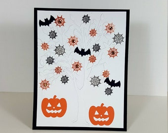 Halloween Card - Embossed Halloween Card - Pumpkin Halloween Card