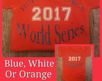 Houston Astros, World Series, Baseball Onesie or Tee