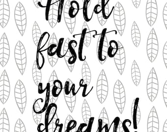 hold fast to your dreams svg langston hughes quote motivation svg inspirational svg