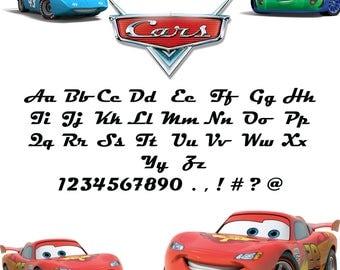 Disney Cars Alphabet Letters - Photos Alphabet Collections