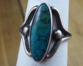 Vintage Scandinavian Turquoise Ring Size 7