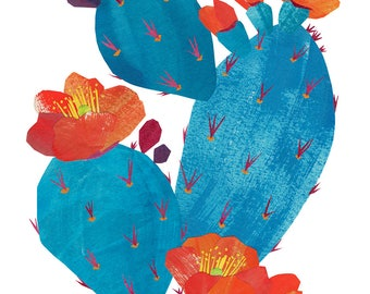Prickly Pear - Giclee Print of an Original Collage