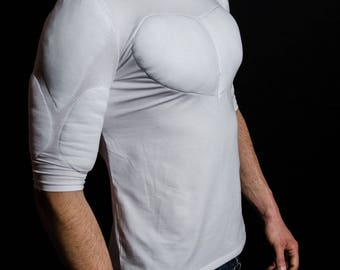 T Shirt with muscles. Fake muscles T shirt