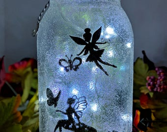 Fairy/Butterfly LED Mason Jar Lamp