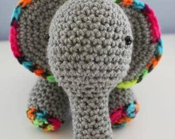 READY to SHIP - Handmade Crochet Elephant - Amigurumi - Toy - Elephant - Stuffed Animal - Plush - Baby Gift