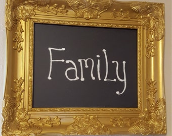 Fancy Wood Frame Hand Painted Chalkboard
