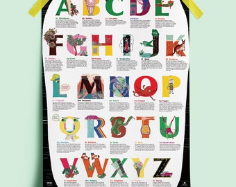 alphabet, with a difference poster A2 full-colour print