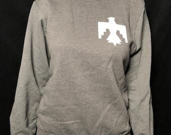 Grey Thunderbird Crewneck Sweatshirt