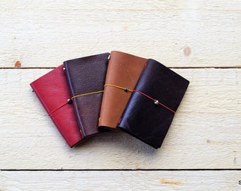 Leather notebook, leather travelbook, leather agenda,