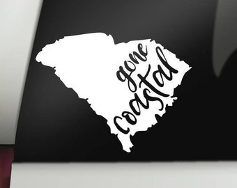 South Carolina Gone Coastal Permanent Vinyl Decal, SC, Car Decal, Bumper Sticker, Window Sticker, Cup Decal, Tumbler Decal, Computer Decal