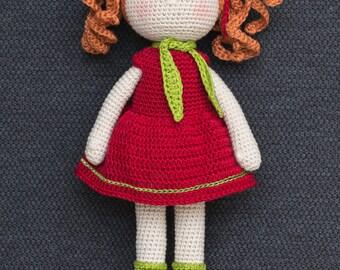 RUBY Crochet Doll - Amigurumi doll - Stuffed doll - Handmade doll - Crochet toy - Handmade toy - Curly doll - Ginger doll - Baby Gift