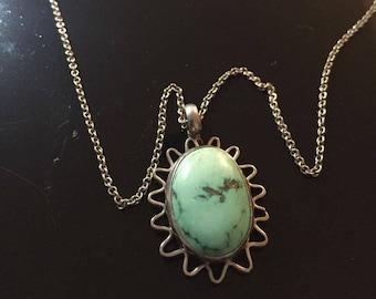 Vintage Southwest Style Turquoise Necklace 2104
