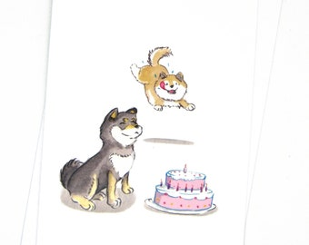 Funny Shiba inu birthday card / Funny dog greeting card / Dog birthday card for dog lovers / Shiba inu gift / Funny dog birthday