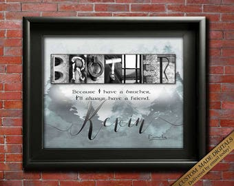 Unique Gift for Brother Gift for Brother from Sister Gift
