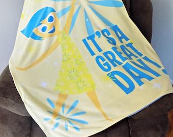 Inside Out Blanket -  Lightweight Blanket - Kids blanket - Disney Blanket - Light Blanket - Child's Blanket