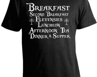 Lord of the Rings T-Shirt - LOTR -Second Breakfast T-Shirt