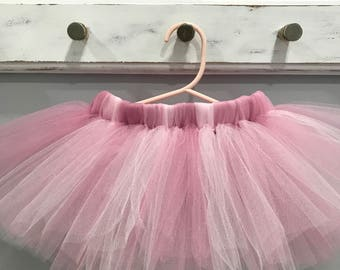 Pink Tutu - Rose Mauve Pink Tutu - Birthday Party Tutu - Cake Smash Tutu - Photo Shoot Prop Tutu - Baby Shower Tutu