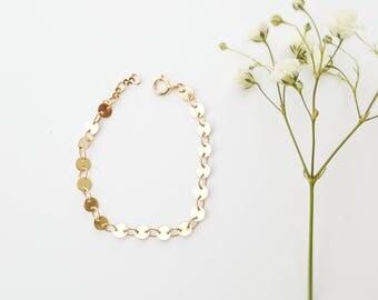 Youth Gold Button Bracelet - Baby/Toddler - Baby Girl Gift - Girl Bracelet - Gold Bracelet- Mommy and Me - Matching Bracelets