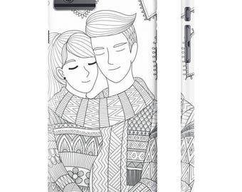 Loving couples iPhone case