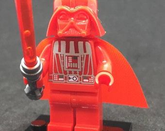 Darth Vader Mini Figure with Lightsaber   Custom Star Wars   100% Compatible   #083