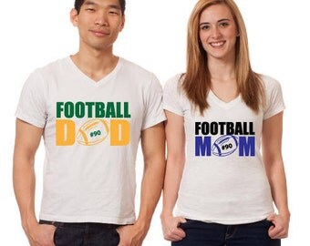 Football Dad and Football Mom SVG File
