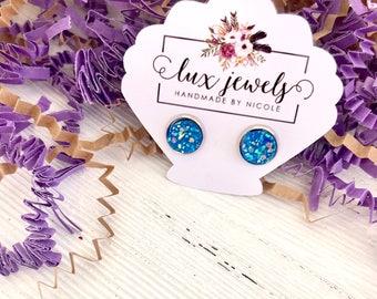 Lux Jewels Blue Faux Druzy