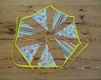 Fabric Bunting Stripes and Flowers