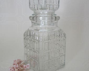 Vintage Small Square Glass Decanter