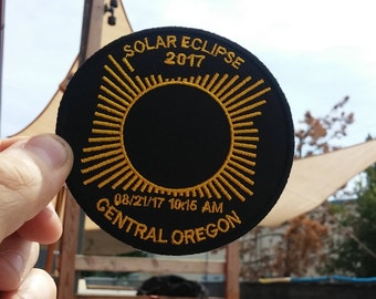 Oregon Eclipse 3.5in  Commemorative Embroidered Patch