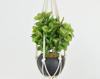 Small Hanger Indoor Hanging Planter Macrame Plant Hanger Small Plant Holder Macrame Planter Gift Small Hanging Planter Indoor Rope *MEDIUM