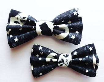 Halloween Bow Ties, Dad and Son Bow Ties, Father Son Bow Tie, Black,Mens Bow Tie,Halloween Bow Tie, Mens Bowtie, Bow Tie, Boys Bow Tie DS713