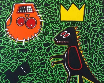 Picture tribute to Basquiat