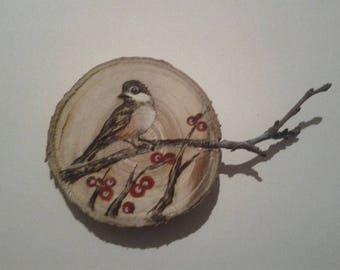 Tree wooden decoration, wood, hanging, ornament, decoration, handmade, decor, souvenir
