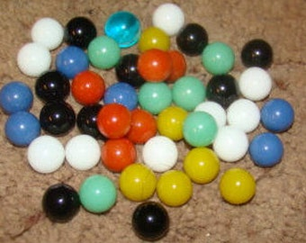 40 Vintage Glass Marbles