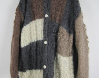 Vintage Hand Knitted Mohair Cardigan