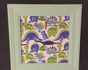 Blue dinosaur dino picture artwork holder