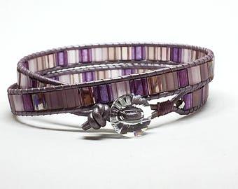 Girlfriend Wrap Bracelet, Wife Boho Bracelet, Wife Wrap Bracelet, Tila Wrap Bracelet, Boho Jewellery for Wife, Tila Ladder Bracelet