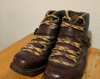 German 1940s Ski Boots - Size 45 (EU) - Deutsch 1940 Jahren Schee Schuhe - 45 Gross