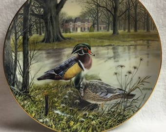 Knowles Living with Nature - 'The Wood Duck' Collector Plate (#080)
