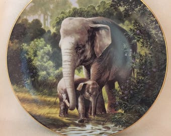 W.L. George Last of Their Kind: The Endangered Species Collector Plate - 'Asian Elephant' (#181)