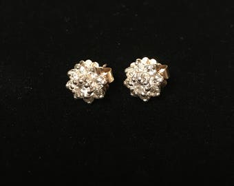 14 K Gold Diamond Earrings
