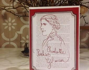 Charlotte Perkins Gilman - Feminist Icon Greeting Card